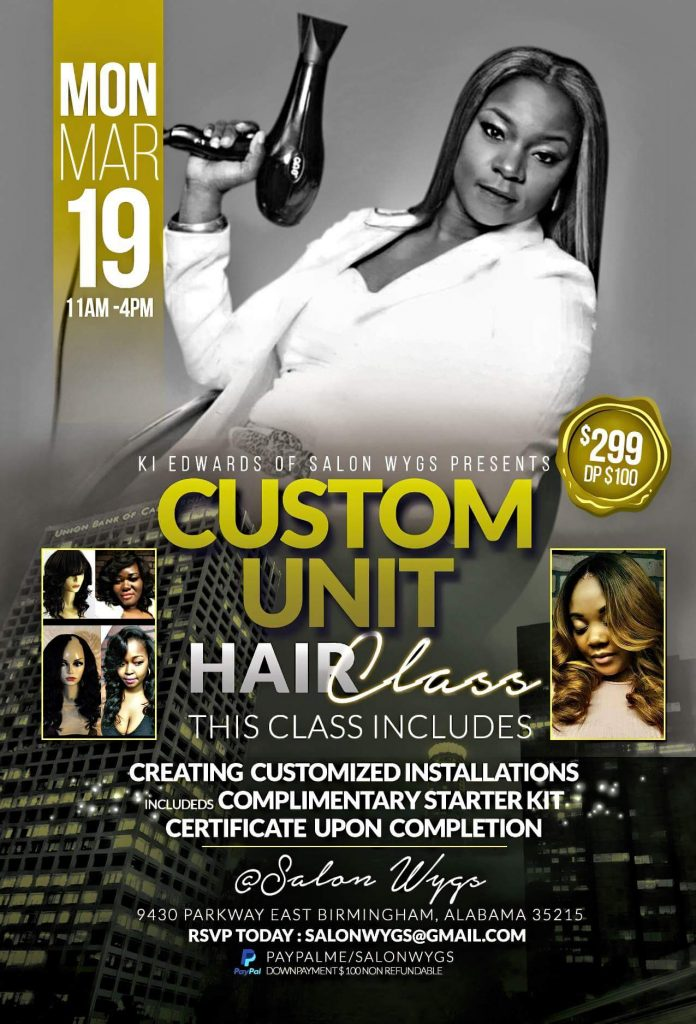 March 19 - Custom unit Hair Class